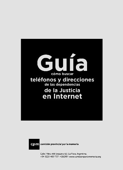 Guía para buscar teléfonos y direcciones