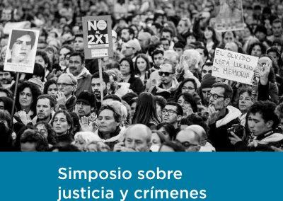 Simposio sobre justicia y crímenes de lesa humanidad