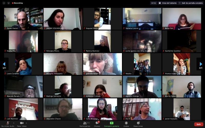 ENCUENTRO VIRTUAL DE CAPACITACIÓN La CPM reunió a 300 docentes y coordinadores que participan por primera vez de Jóvenes y Memoria